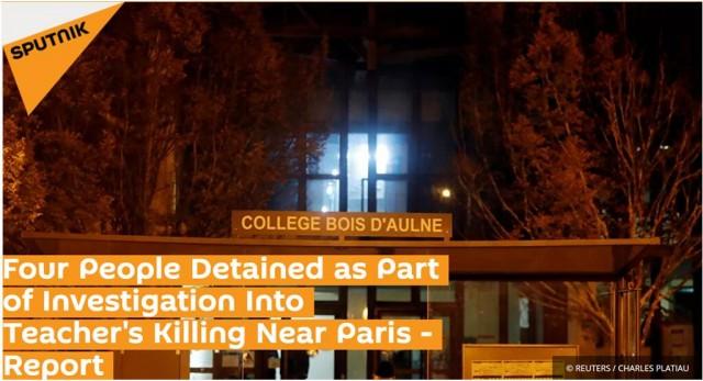 """巴黎""""斩首案""""新进展:袭击者可能是学生家长,已逮捕四人"""