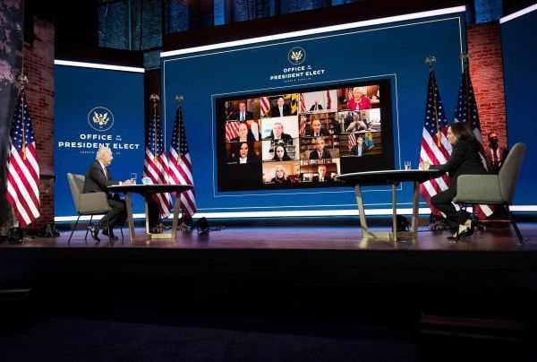 """拜登斥特朗普为""""最不负责任总统"""" 绕开白宫直接与各州州长接洽"""