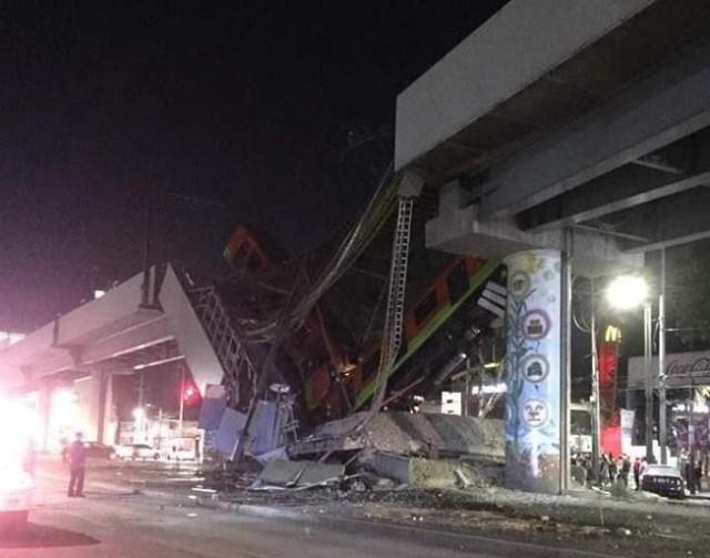 墨西哥首都地铁12号线发生垮塌事故 已致13人死亡70人受伤