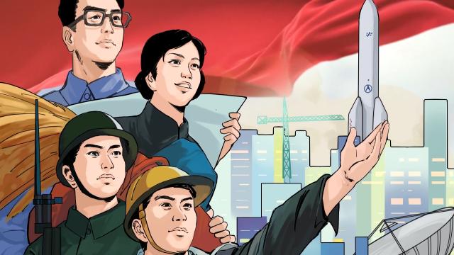 跟总书记学党史 第三集《新中国建设的蓬勃气象》