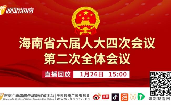 回看:海南省六届人大四次会议第二次全体会议